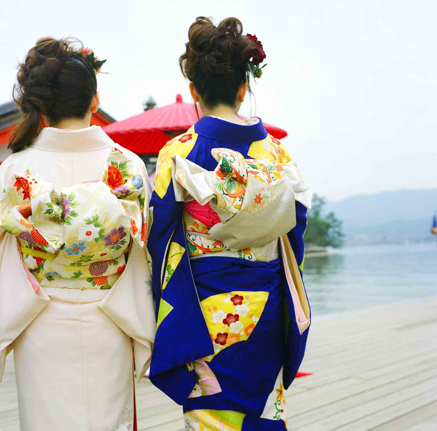 Kimono wedding at Miyajima Japan. Traditional ceremony