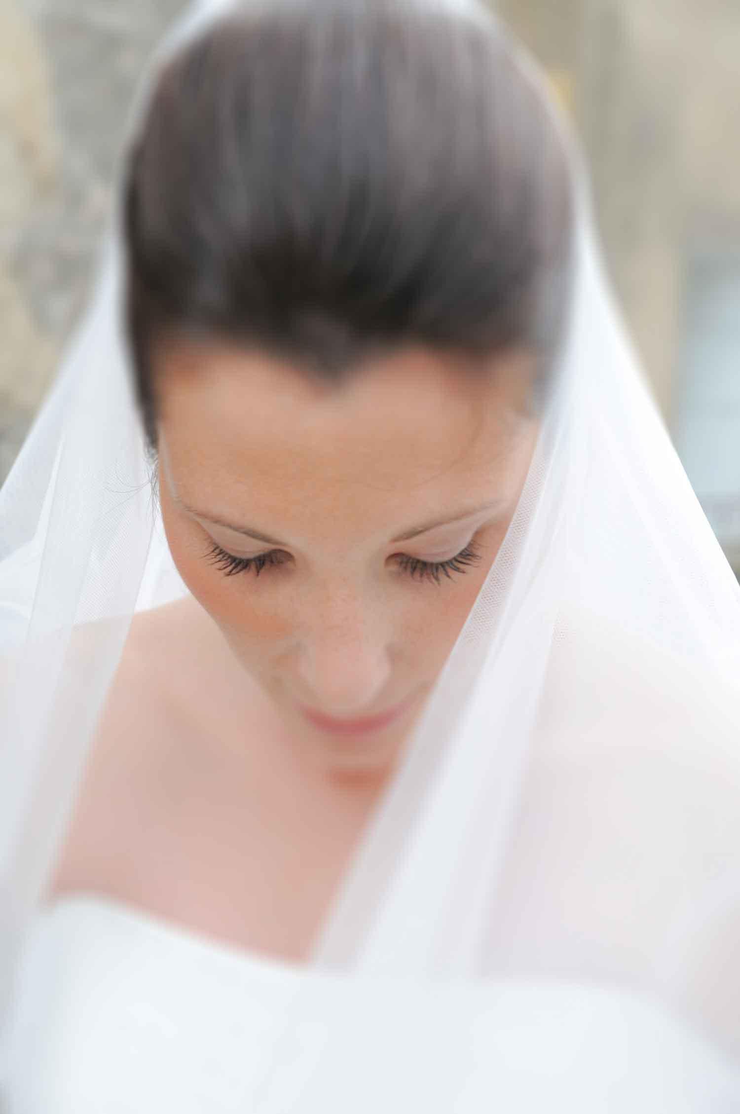 portrait bride wedding dress